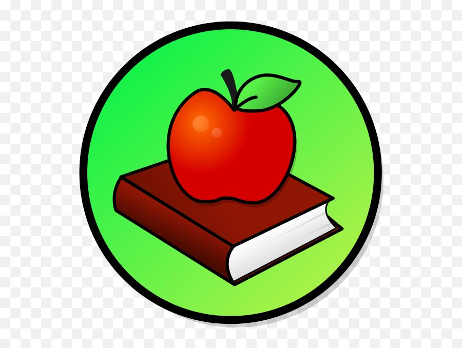 Apple - Apple With Books Clipart Emoji