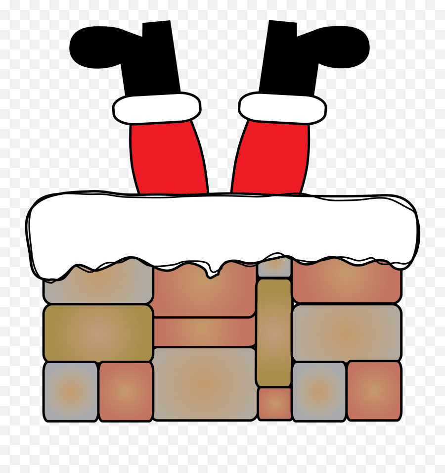 Clipart Santa In Fireplace - Png Download Full Size Emoji,Santa Emoji Iphone