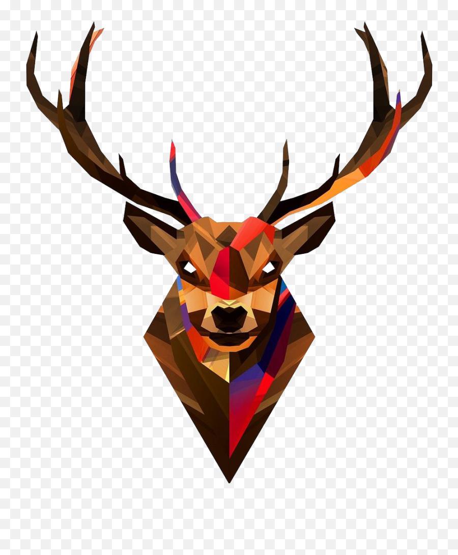 Geometric Deer Wallpaper Iphone Clipart - Geometric Animals Emoji,Deer Emoji Iphone
