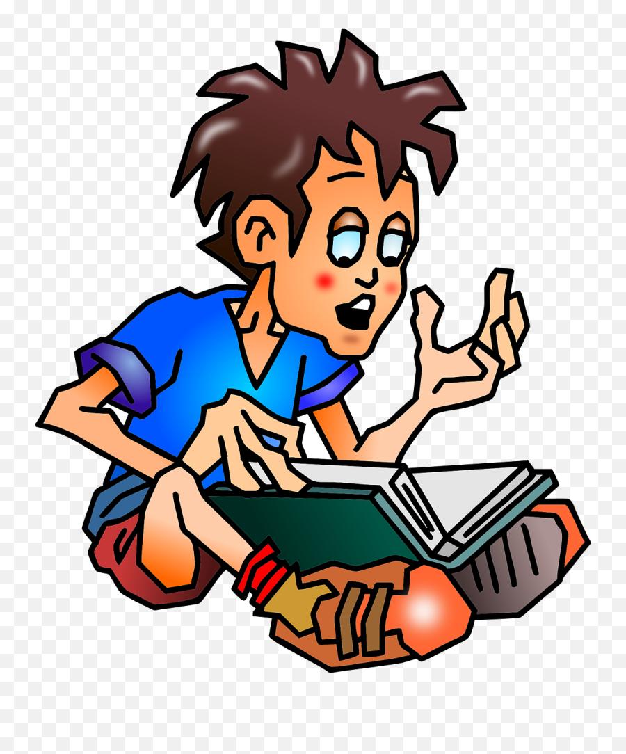 Student Education Boy School Reading - Memorizing Clipart Emoji,Kissing Emoticon
