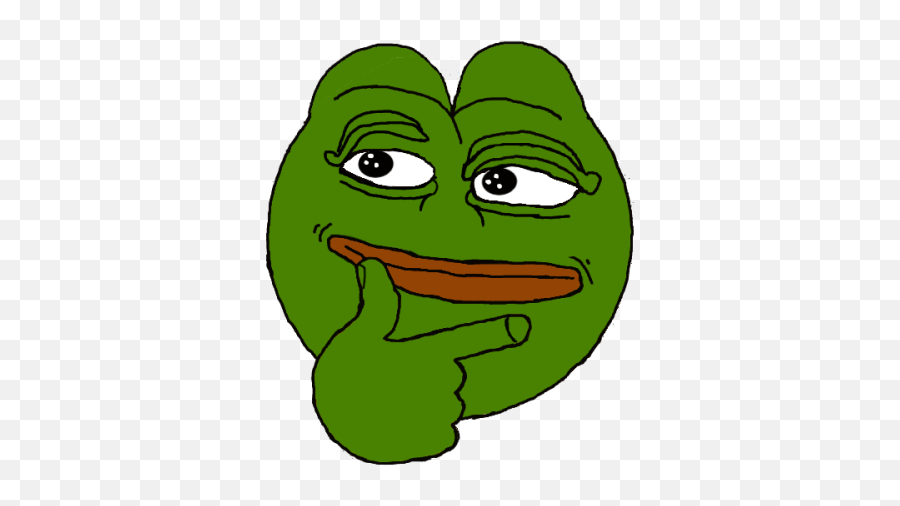 Thinking Emoji Pepe - Pepe The Frog Think