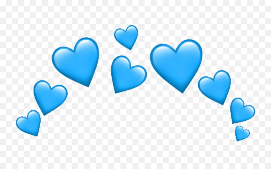 Emoji Emojis Whatsapp Heart Hearts Blue - Red Heart Emojis Png