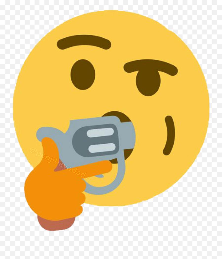 Meme Memes Sticker Thinkingemoji Gun Shotmyself Dank - Discord Animated Server Icon