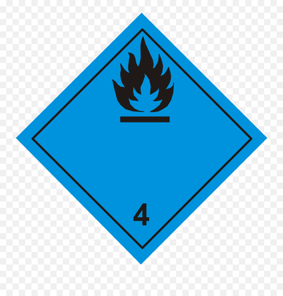 Danger When Flammable Sign Vector Clipart Image - Adr Labels Emoji