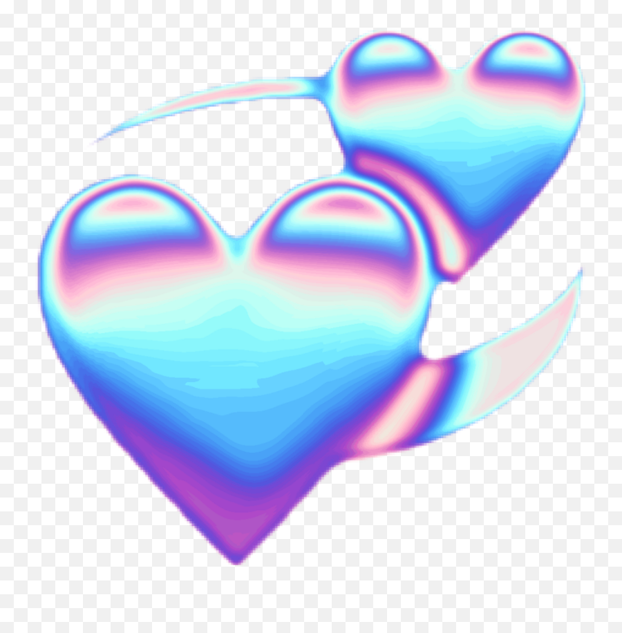 Holo Empress Iridescence Emoji Empressiridescence - Transparent Blue Emoji Heart