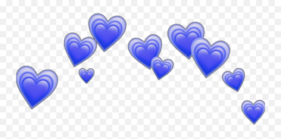 Blue Emoji - Heart Emoji Crown Transparent