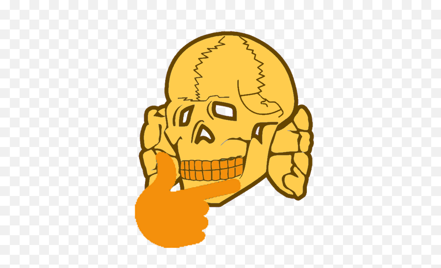 Download Post - Thinking Emoji Skull