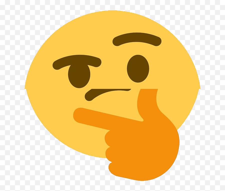 Thinking Emoji - Thinking Emoji Transparent Background