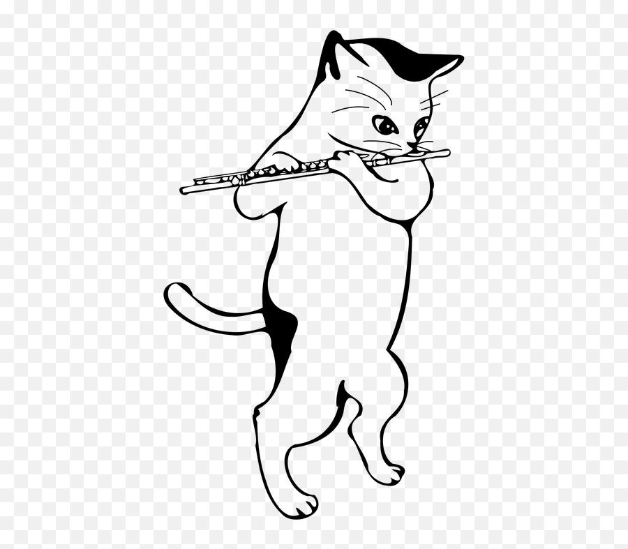 Flute Cat Musical Instruments - Flute Cat Emoji,Cat Emoticons Text