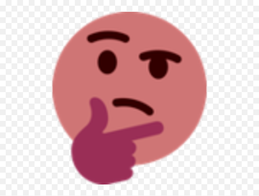 Download Thinking Face Emoji Know Your Meme - Emoji Thinking Discord Png