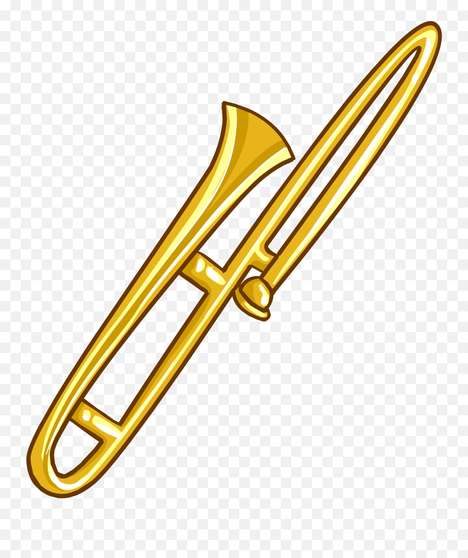 Trombone - Trombone Clear Background Emoji,Trombone Emoji