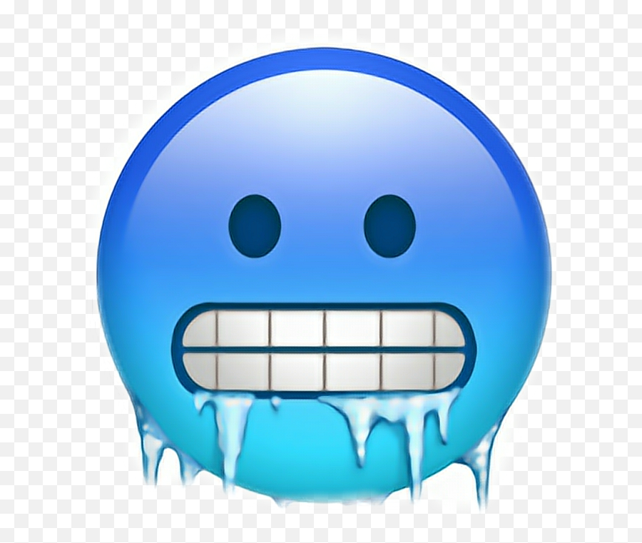 Blue Emojis Clipart - Iphone Cold Emoji