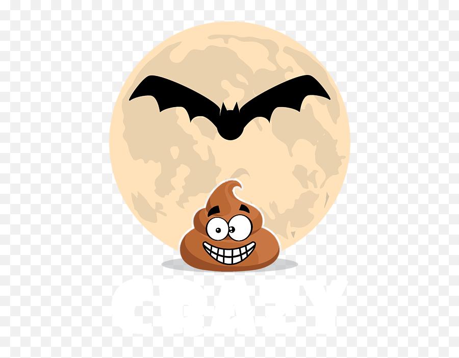Batshit Crazy Funny Halloween Emoji Emoticon Dark Greeting Card - Batshit Crazy Emoji,Funny Emoji