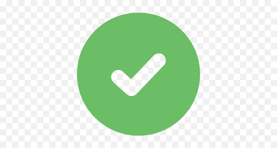 Green Checkmark Icon Png And Svg Vector - Check Mark In Progress Emoji