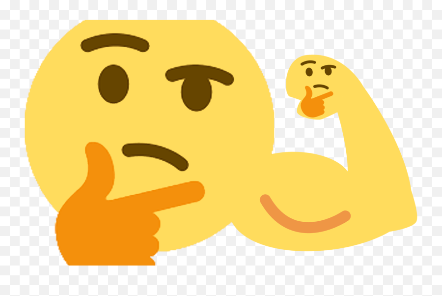 Thinking Meme Transparent Png Clipart Free Download - Thinking Emoji