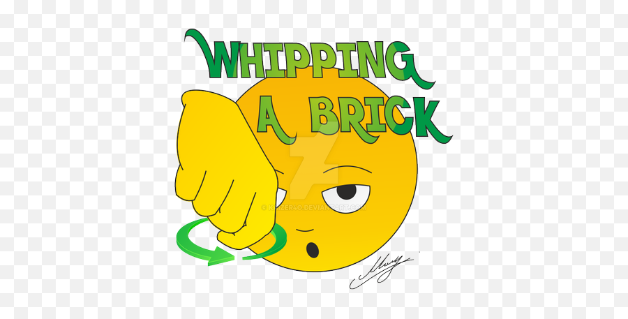 Whipping A Brick - Clip Art Emoji,Brick Emoji