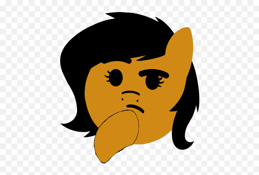 Anonymous Cute Emoji Female Filly Food - Transparent Background Discord Emoji