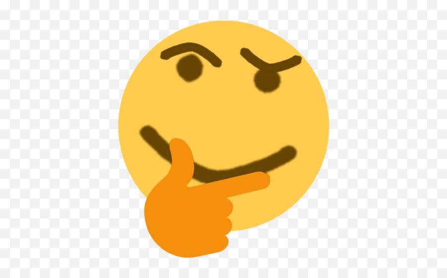 Thinking Emoji Discord Emoji Png Thinking Emoji Transparent - Transparent Background Discord Emojis
