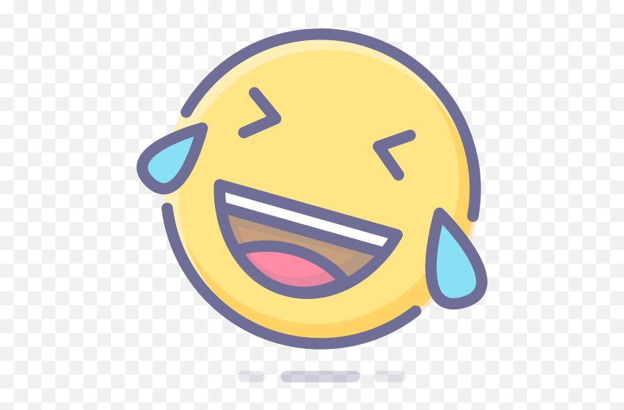 Face Joy Of Tears With Emoticon Emoji Free Icon Of Emotion - Icon,Joy Emoji