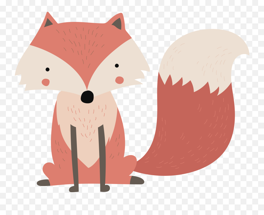 Fox Sitting Vector Png Download - Vinilo Infantil Zorro Emoji,Fox Emoticon
