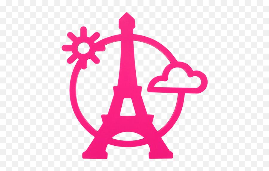 Magnetic Eiffel - Eiffel Tower Icon Pink Emoji,Is There An Eiffel Tower Emoji