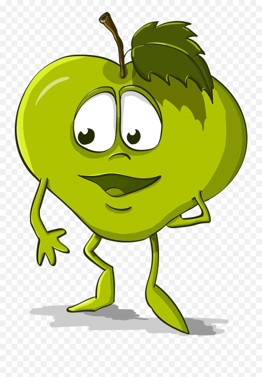 Apple Funny Kindness Cartoon Character - Gambar Apel Lucu Kartun Emoji