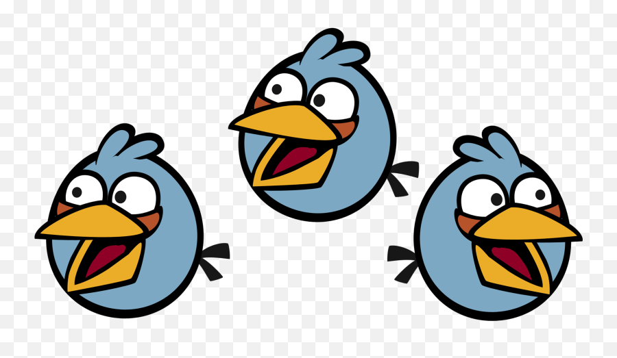 Download Hd Blue Jay Clipart Angry - Angry Birds Game The Blues Emoji