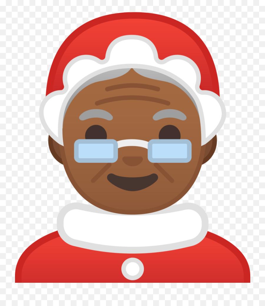 Mrs - Black Mrs Santa Clipart Emoji,Santa Clause Emoji
