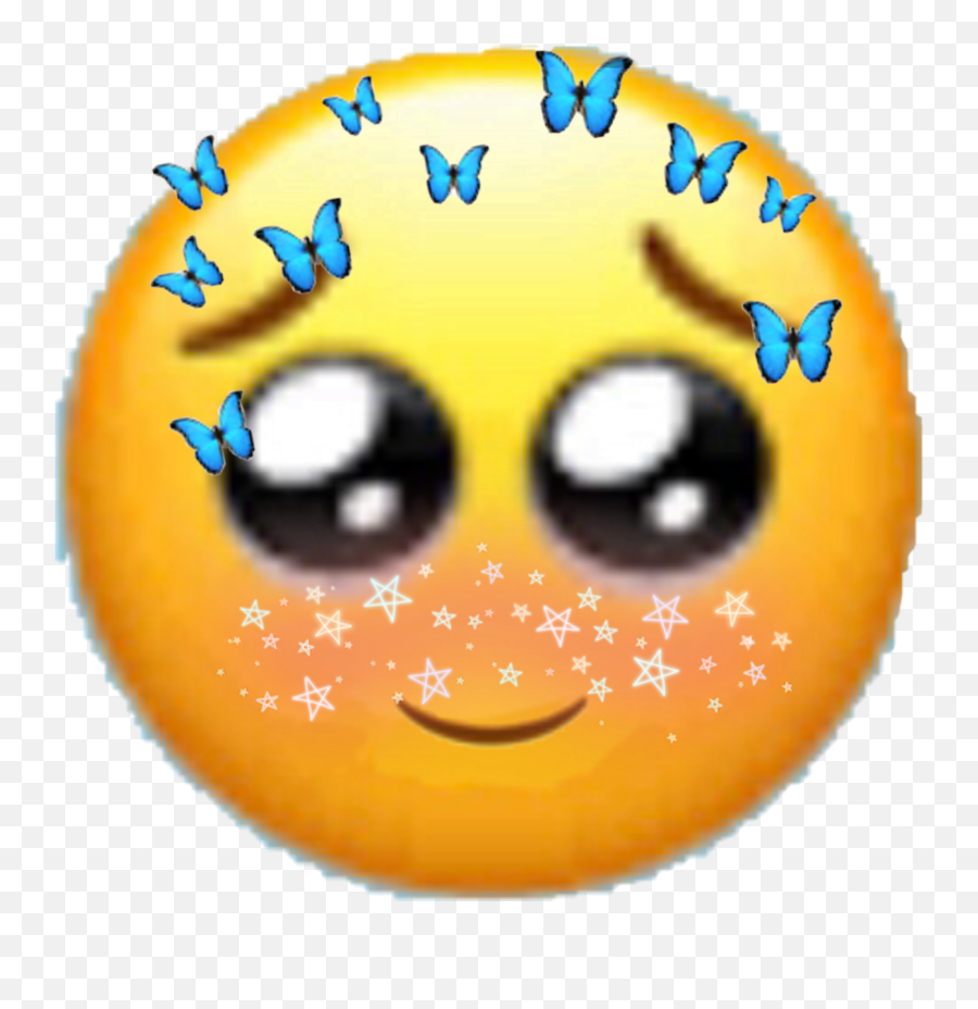 Cute Emoji Soft Sticker,Half Smile Emoji