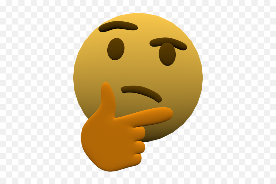 Thinking Emoji But 3d - Thinking Emoji Gif Transparent