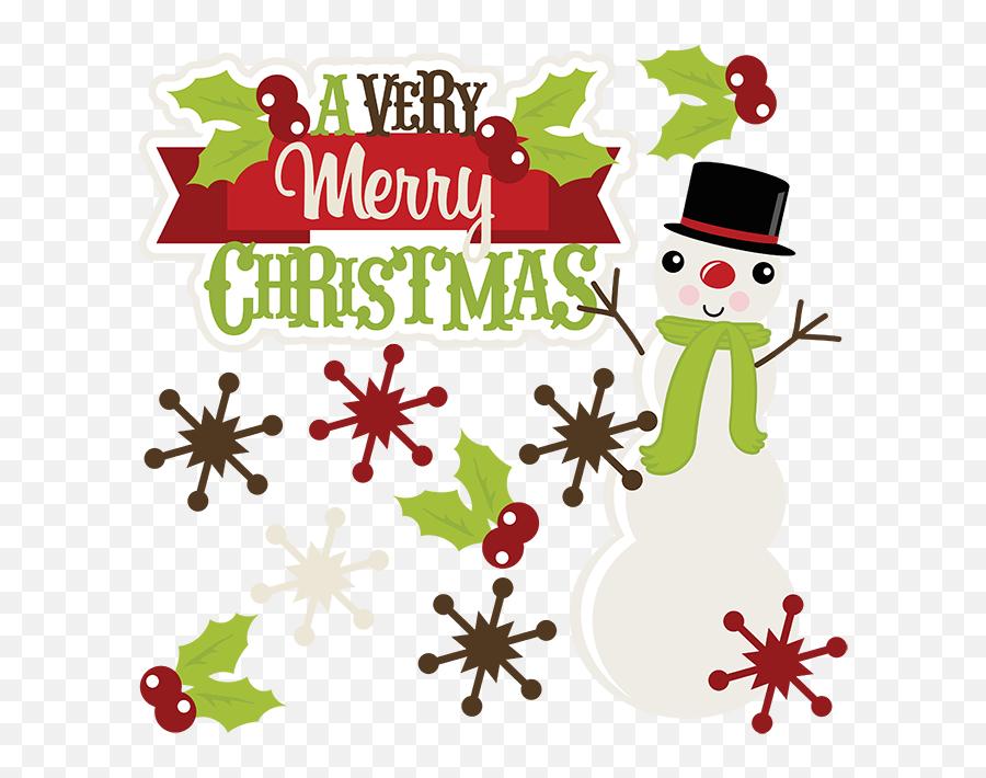 A Very Merry Christmas Svg Christmas Clipart Cute Clipart - Cute Merry Christmas Clip Art Emoji,Merry Christmas Emoji