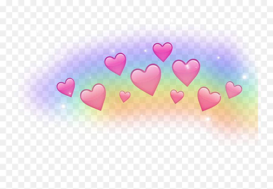 Rainbow Heart Crown Sparkle Sparkling - Snapchat Heart Crown Png Emoji,Sparkling Heart Emoji