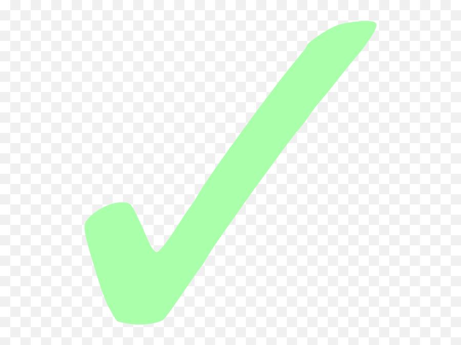 Light Green Check Mark Clip Art At - Check Mark With Black Background Emoji