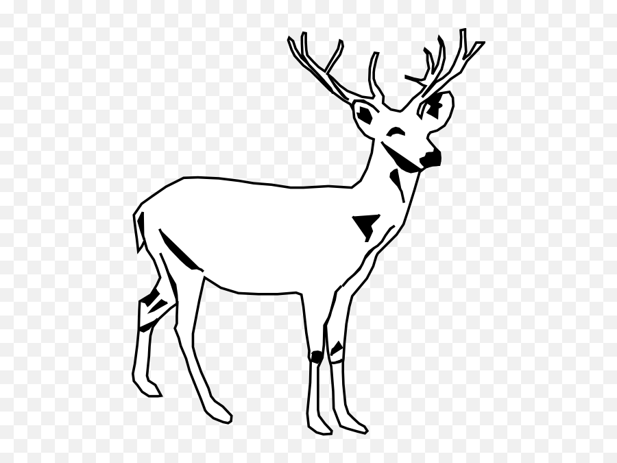 Free Deer Images Black And White - Deer Clip Art Emoji,Deer Hunting Emoji