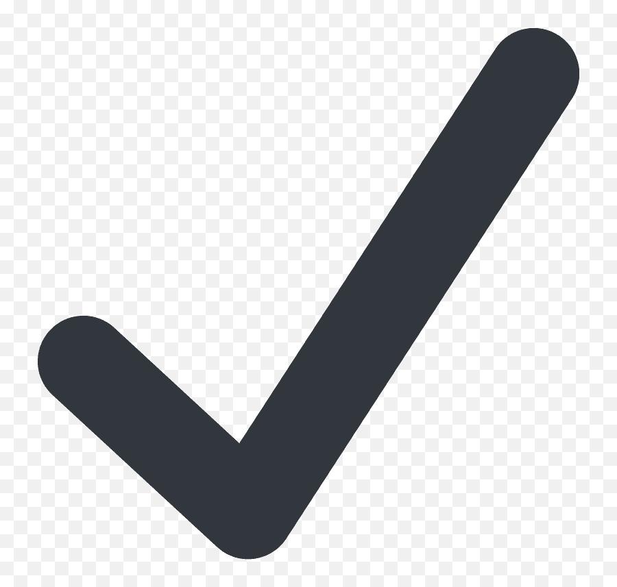 Check Mark Emoji Clipart - Black Check Mark Emoji