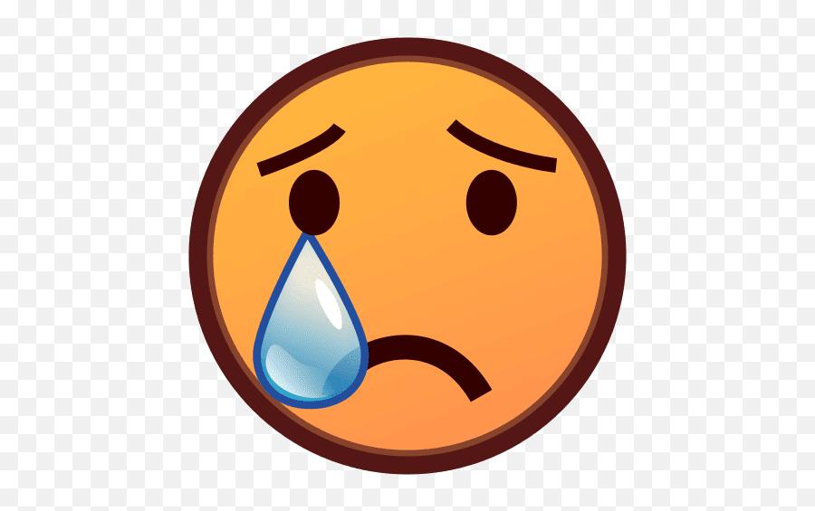 Smiley Face With Tears Of Joy Emoji Crying Emoticon - Clipart Trauriges Gesicht,Joy Emoji