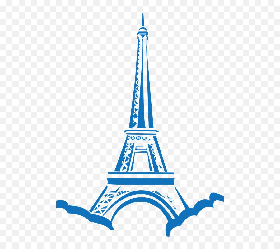 Eiffel Tower France - Eiffel Tower Vector Blue Emoji,Is There An Eiffel Tower Emoji