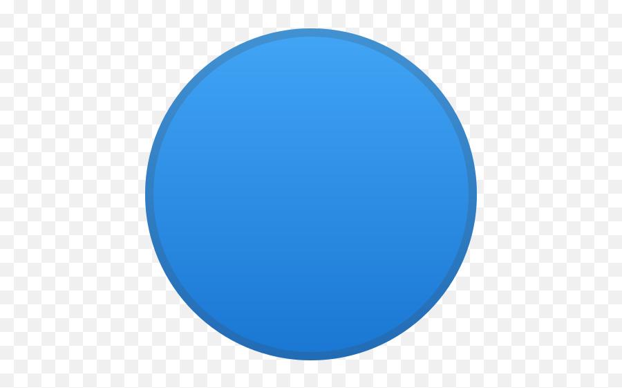 Blue Circle Emoji - Circle
