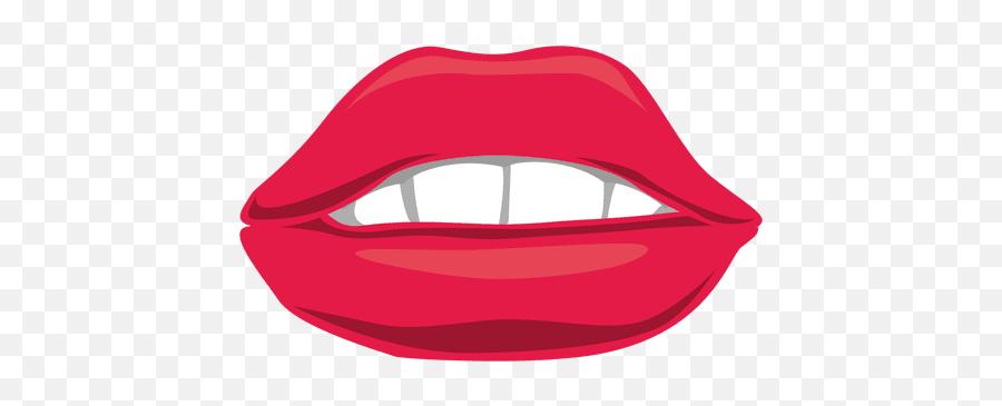 Biting Lips Transparent Png Clipart - Boca Feminina Desenho Png Emoji