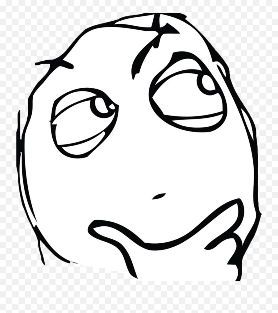 Download Free Png Hmm - Meme Thinking Face Emoji