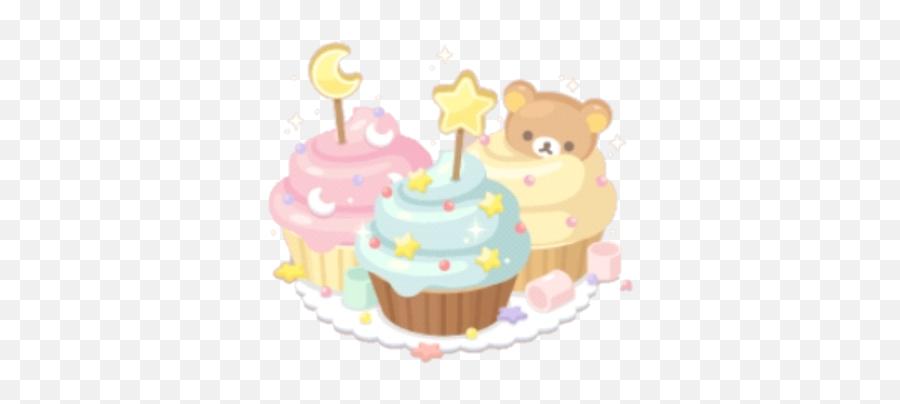 Rilakkuma Kawaii Cute Lineplay Birthday Cake - Cartoon Emoji