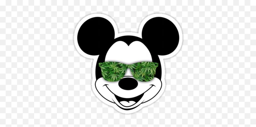 Likes - Mickey With Sunglasses Svg Emoji,Weed Emoticon