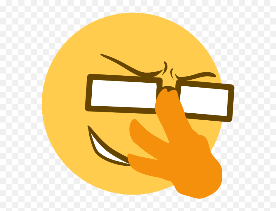 Sad Bees Anime Glasses Discord Just 3 - Transparent Background Discord Emojis
