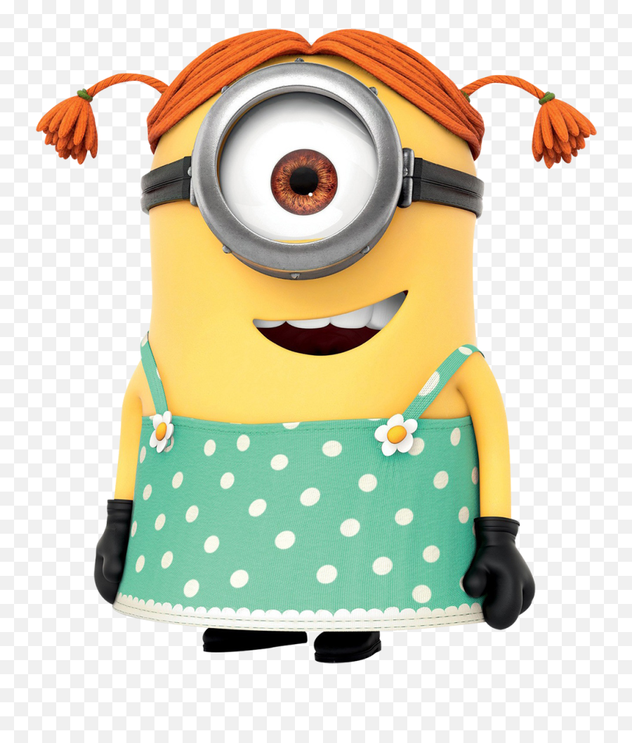 Girl Minion Clipart Png - Minion Girl Png Emoji,Minion Emoticons For Iphone
