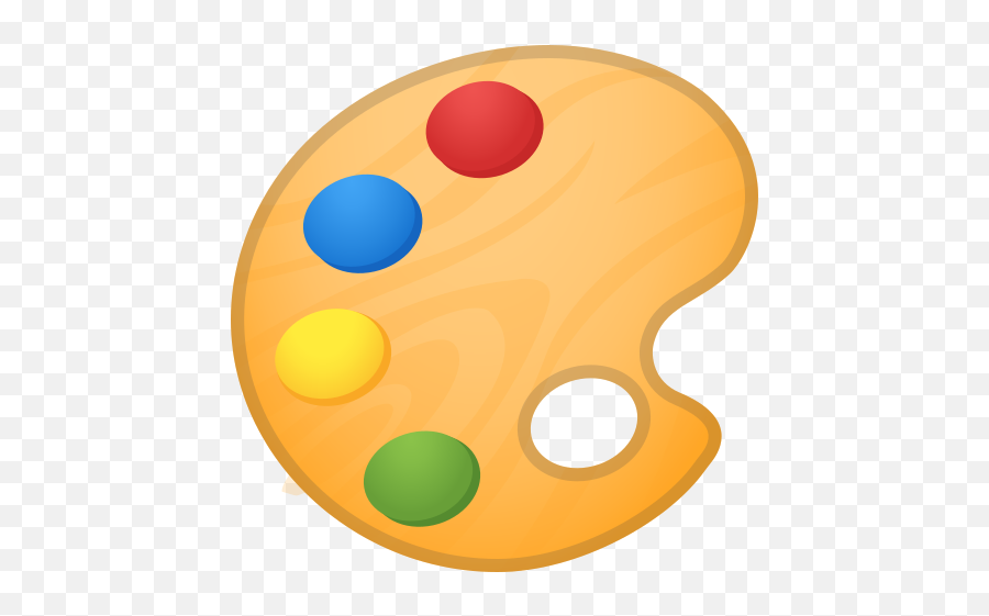 Artist Palette Emoji - Paint Palette Emoji