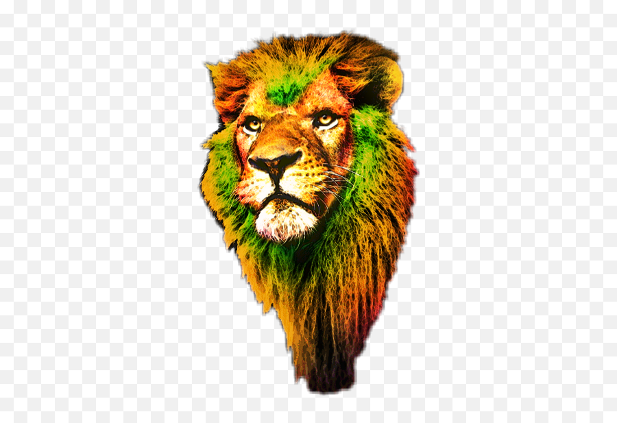 freetoeditlionface lion kingofjungle king colorful - Masai Lion Emoji