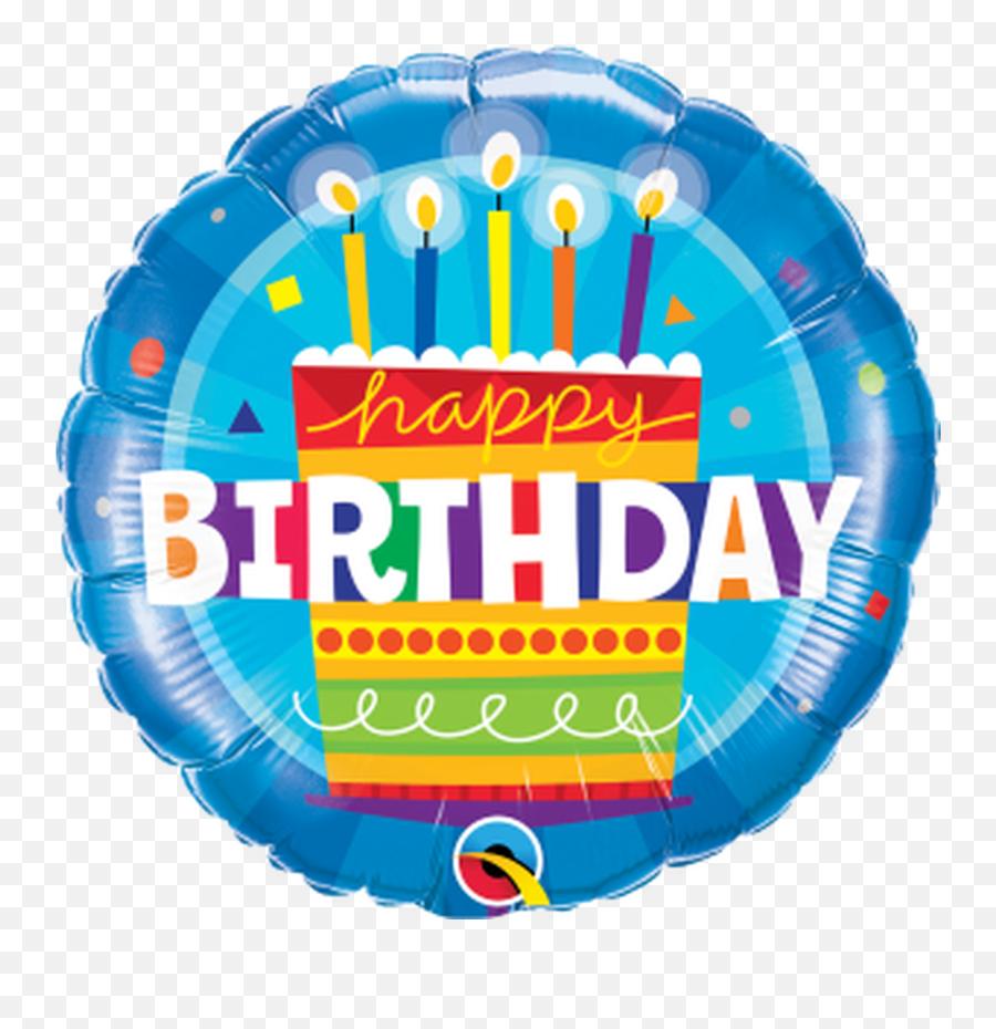 Birthday Cake Blue 18 Foil Balloon - Birthday Balloons Emoji