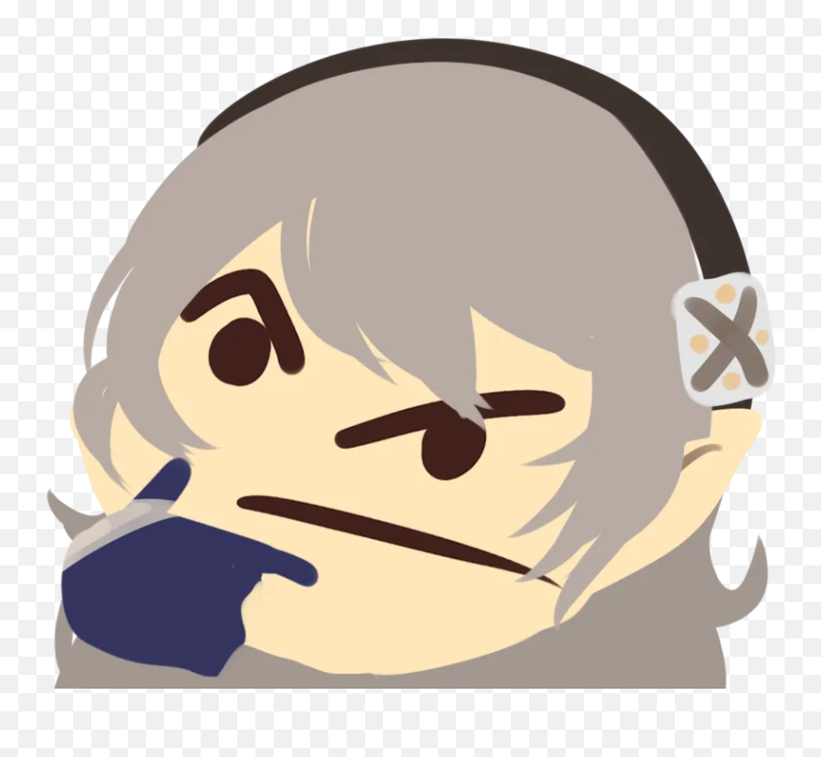 Thinking Corrin Thinking Face Emoji Know Your Meme - Marth Thinking Emoji