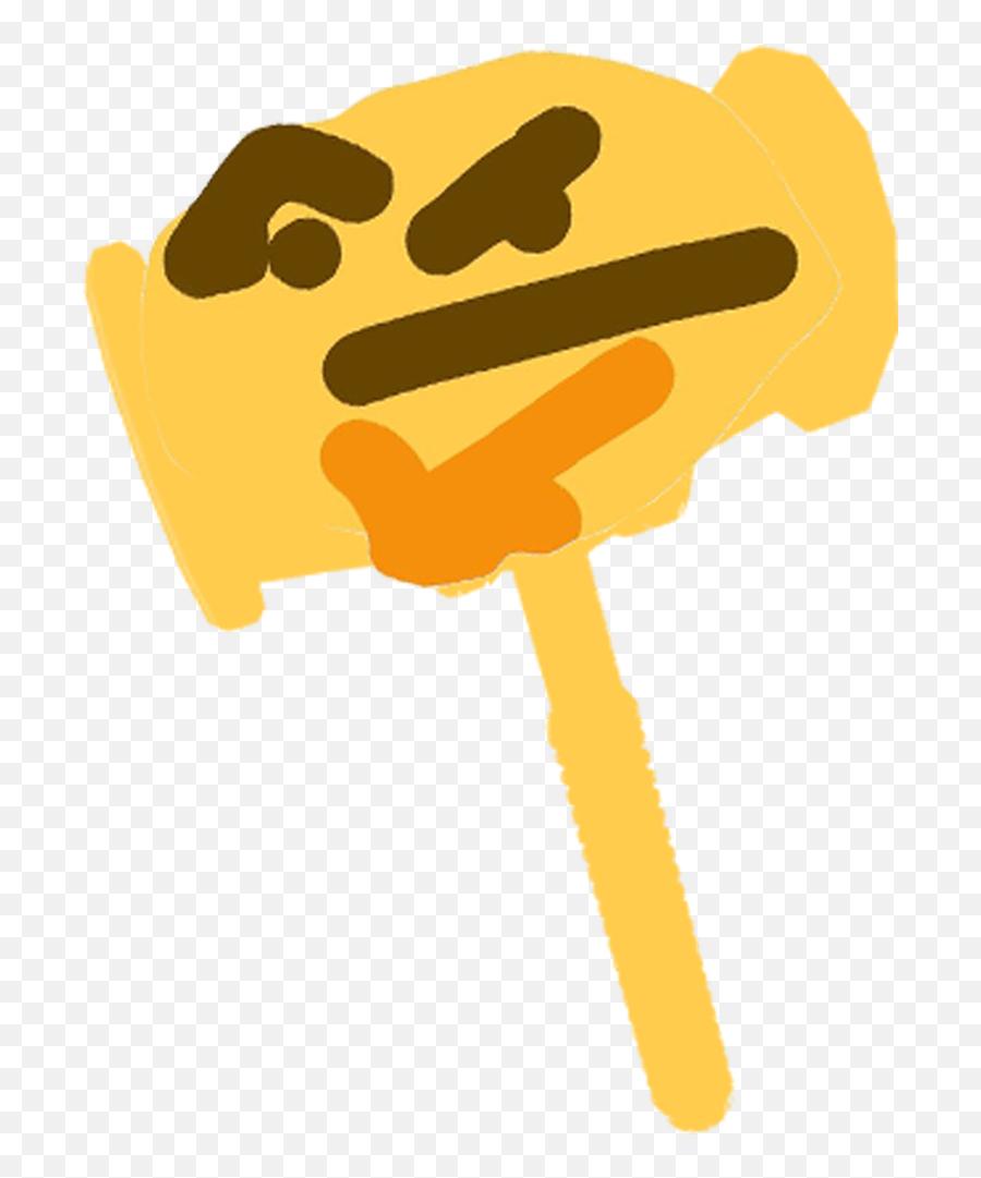 Thinking Emoji - Ban Hammer Emoji Discord