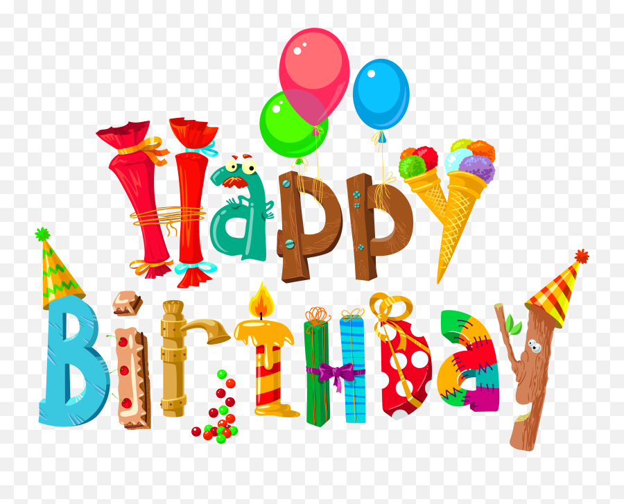 Happy Birthday Clipart - Transparent Background Happy Birthday Clipart Emoji,Happy Birthday Emoji Texts